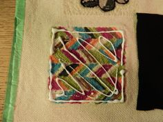 how to finish the back of a mug rug