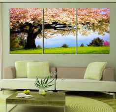 Cheap large wall pictures Buy Quality picture for living room directly from China wall pictures Suppliers 3 piece canvas romantic wall art tree picture ... & 138 best Wall Arts images on Pinterest | Canvas prints Photo canvas ...