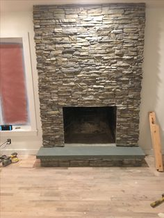 Fireplace Finished Eldorado Stone In Nantucket