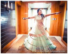 A true Calcutta bride - resplendent in a #sabyasachi lehenga - Bharati does a test twirl to ensure her outfit is everything it was promised to be. We thought it was pretty darn perfect, and so was she.