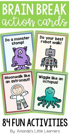Sitting still for an entire day can be hard for young students. Sometimes, recess just isn't enough! Students who are able to move during the school day are proven to be able to both learn in the most beneficial way and retain that knowledge. These brain break cards are the perfect way to incorporate short bursts of movement during your lessons!