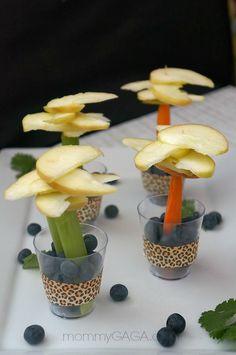 Party Food Ideas, Jungle Safari Fruit and Veggie Trees  #JungleFresh #shop #cbias