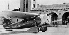 Lockheed Vega of TWA (Transcontinental & Western Air) (Glendale Grand Central Terminal, California) Eugene Atget, Air Travel, Airplanes, Fighter Jets, Aviation, Automobile, Aircraft, California, Golden Age