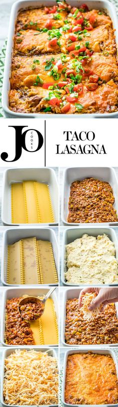 This taco lasagna is saucy, cheesy and delicious. Try this fun twist on your traditional lasagna with lots of Mexican flavors, yet still an easy weeknight and family-friendly meal.