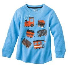 Jumping Beans Train Thermal Tee - Toddler