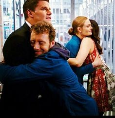Booth, Bones, Hodgins and Angela