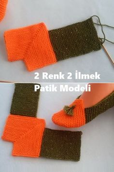 2 Renk 2 İlmek Patik Modeli Best Picture For Knitting doll For Your Taste You are looking for something, and it is going to tell. Knitting Machine Patterns, Knitting Blogs, Loom Knitting, Baby Knitting Patterns, Knitting Projects, Crochet Patterns, Diy Crochet Slippers, Crochet Daisy, Knitted Booties