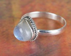 Silver Rings – Moonstone Ring, 925 Silver Ring, Promise Ring – a unique product by Midas-Jewelry on DaWanda