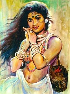 India Painting, Art Painting Gallery, Painting Of Girl, Female Poets, Indie Art, Indian Art Paintings, Indian Artist, Beauty Art, Real Beauty