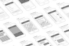 Mobl Wireframe Kit by JacobKei on @creativemarket