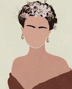 Girl Illustration Art, Illustrations, Art Sketches, Art Drawings, Frida Art, Feminist Art, Minimalist Art, Cartoon Wallpaper, Face Art