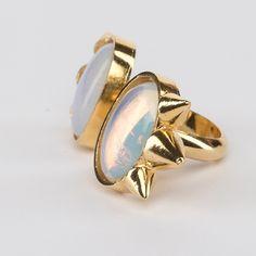 // Vergara Collection - Opal Eyes Ring - DANIELA SALCEDO Ring Designs, Opal, Gemstone Rings, Rings For Men, Gemstones, Eyes, Collection, Jewelry, Rings