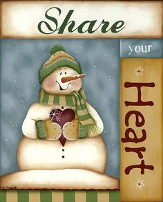 share your heart. Snowman Clipart, Christmas Clipart, Christmas Signs, Christmas Images, Christmas Printables, Christmas Snowman, Christmas Ornaments, Frosty The Snowmen, Cute Snowman