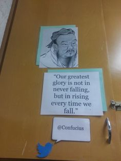 Middle School Classroom Locker Decoration: Inspirational People with Quote Confucius (Technology Twitter Theme) http://www.teacherspayteachers.com/Product/Technology-Twitter-Theme-Classroom-Decoration-Inspirational-People-with-Quote-1369408