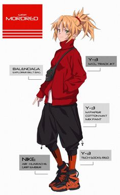 Mordred showing off her new fit Character Design References, Character Art, Fate Apocrypha Mordred, Type Moon Anime, Fate Stay Night Series, Fate Characters, Fate Servants, Fate Anime Series, Chica Anime Manga