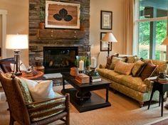 Framed leaf art for for vintage living room ideas on a budget