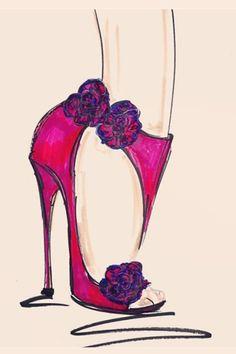 Shoe sketch.