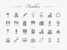 Cute Retro Icons http://dribbble.com/shots/266088-Feather-Set-Live?list=searches=retro_icon  KG