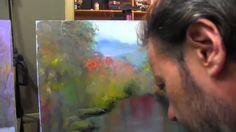 Осенний пейзаж. Отражение в воде. Мастер-класс Художник Игорь Сахаров
