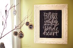 Give thanks ...