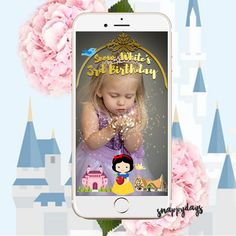 SNAPCHAT Disney Princess Geofilter  Snow White by SnappyDaysCo