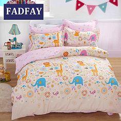 FADFAY Home Textile,Unique Cartoon Kids Bedding Set,Sweet Vintage Floral Fairy Girls Bedding Sets,Cute Polka Dot Full Size Duvet Cover,4Pcs FADFAY http://smile.amazon.com/dp/B00XOTJGR2/ref=cm_sw_r_pi_dp_BvoIvb1V988N9