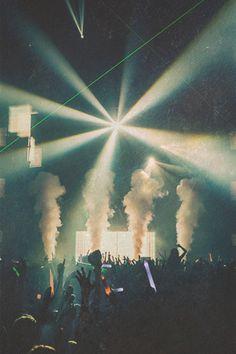 lights and smoke