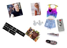 For Alyssa Jones by analis-briseno on Polyvore featuring polyvore fashion style Vans Disney Markus Lupfer clothing