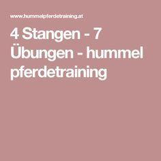 4 Stangen - 7 Übungen - hummel pferdetraining