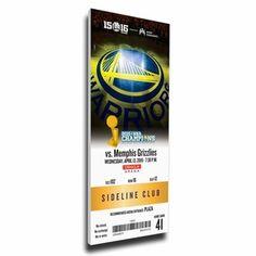 Golden State Warriors 73rd Win Canvas Mega Ticket