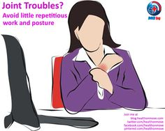 #Healthtip - Excessive #computer use and watching #TV results in back and #neck pain, #headaches, sciatica and other #jointproblems. It's important to get up, stretch, and move around every half hour to avoid joint stiffness.    Hit #Repin if you face the same pain as the women in the image    #fitnessexercise #healthtipforwomen #healing #healthcare #womenshealth #osteoporosis #WorldOsteoporosisDay