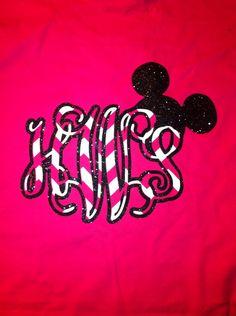 Disney+Monogram+Shirts+by+WhitefishCreations+on+Etsy,+$24.00
