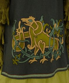 Example of embroidery on a Norse apron.