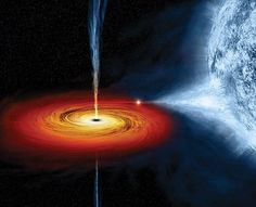 What Escapes A Black Hole? Now that's dark By Kate Baggaley 02.28.2014 Black Hole As illustrated, a black hole pulls gas and plasma off a nearby star. That matter rotates around the hole in an accretion disk. Interacting with magnetic fields, the matter accelerates to tremendous speeds and then shoots from the disk's center. Illustration by M.Weiss/NASA/CXC