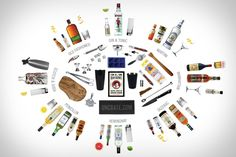 ESSENTIALS: BARTENDER  All the tools and ingredients needed to make classic drinks and longterm friends. Put together with the help by bartenders at Death & Co. and Demi Monde. Click on through to the other side