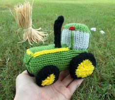 """I thought I'd do another vehicle pattern this week! Tractors seem to be having their """"moment in the sun,"""" if you will. The last time I was in the toy store, I saw several die-ca…"""