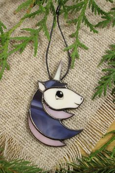 Unicorn necklace Unicorn gift Unicorn Fashion Unicorn jewelry Unicorn pendant Unicorn glass Small gifts for her Unicorn party Gift for teen Stained Glass Designs, Stained Glass Projects, Stained Glass Patterns, Unicorn Jewelry, Unicorn Necklace, Ron Glass, Glass Art, Unicorn Glass, Unicorn Fashion