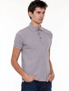 GAS Casual Polo Shirt buy from koovs.com Mens Polo T Shirts, Polo Shirt, Tshirts Online, Casual, Mens Tops, Stuff To Buy, Fashion, Moda, Polos