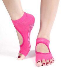 Comfortable Five Toes Non Slip Grip Yoga Pilates Socks