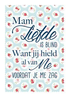 Moederdag poster met quote Nienke van Kasteel Grafisch Ontwerp & Illustratie