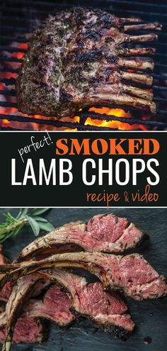 An easy and approachable recipe for Smoked Lamb Chops, grilled using the reverse sear method. Served as a lamb lollipop for an elegant appetizer or an elegant dinner. Lamb Chop Recipes, Smoked Meat Recipes, Barbecue Recipes, Grilling Recipes, Easy Lamb Recipes, Traeger Recipes, Grilling Ideas, Venison Recipes, Picnic Recipes