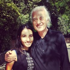 Jimmy Page with fan outside his home 2014 #gettheledout