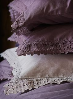 Shades of mauve Plum Bedding, Linen Bedding, Duvet, Purple Haze, Shades Of Purple, Motifs Perler, Lavender Cottage, Shabby Chic, Pastel Decor