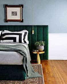 Green and Velvet are definitely having a moment in the bedroom! The contemporary LINCOLN combines both to create a luxurious statement that works back with both a strong & subtle colour palette. To take a closer look visit our website www.heatherlydesign.com.au xx
