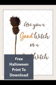 Free Halloween Print To Download Halloween Prints, Halloween Themes, Harvest Season, Fall Diy, Witch, Diy Crafts, Holiday Decor, Free, Do It Yourself