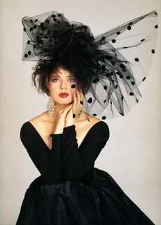 Isabella Rossallini..in the 80's..in fabulous tulle hat..!