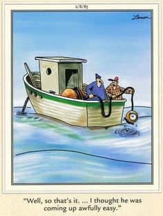 The Far Side ⛵️ American Humor, Dark Humor Jokes, Far Side Comics, Funny Insults, Gary Larson, He Is Coming, Funny Jokes For Adults, The Far Side, Just For Laughs