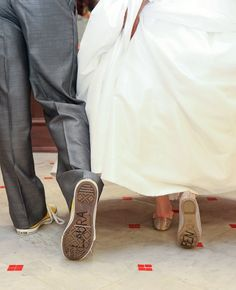 Toy Story-Inspired Shoe Signatures // Subtle Disney Wedding Ideas // Featured: The Knot Blog