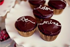 be mine wedding cupcakes