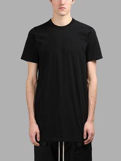RICK OWENS RICK OWENS MEN'S BLACK BASIC T-SHIRT. #rickowens #cloth #t-shirts